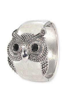 owl bracelet white