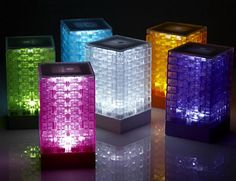 LED Lego Lamps.