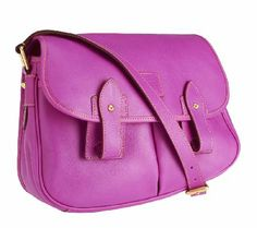 LOVE this Dooney & Bourke Florentine Leather Saddle Bag in #RadiantOrchid! Sleek and compact, it's perfect for carrying all the necessities! #ColoroftheYear