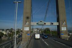 Tamar Bridge over the River Tamar  in Plymouth