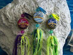 Bottlecap fishing lures.