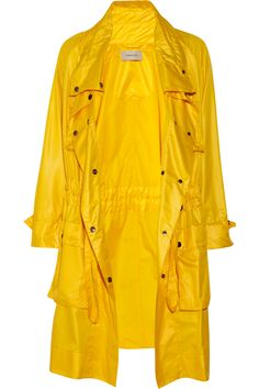 looove this canary yellow trench coat