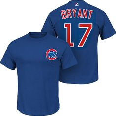 The Majestic MLB Player Name & Number Tee is 100% cotton and features a screenprinted team logo on the front and screenprinted player name and authentic number font on back.