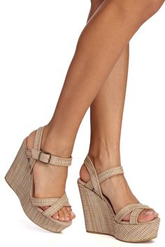 Shop a variety of women's wedges to compliment your chic fall styles. From strappy wedges to espadrille wedges, they go great with everything. Platform Wedges Shoes, Wedge Shoes, Lace Up Espadrilles, Lace Up Espadrille Wedges, Strappy Wedges, Women's Wedges, Lace Up Block Heel, Suede Heels, Sexy