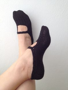 Gothic Black   Healthy Booties Home slippers Dance by NesrinArt, $19.00  @Alicia Rudolph you must make these!!!