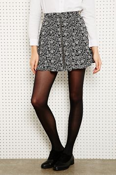 Cooperative Zip-Through Skirt in Ditsy Print