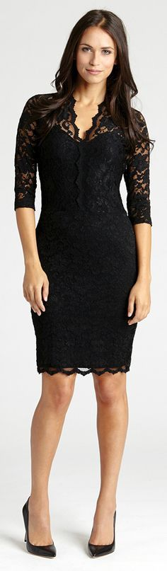 The perfect lace dress -- nothing beats a classic little black dress.