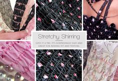 Sewing Tips Helpful Hints Learn machine shirring using elastic thread. Make cute stretchy tops and dresses easily. Sewing Lessons, Sewing Hacks, Sewing Tutorials, Sewing Crafts, Sewing Projects, Sewing Patterns, Sewing Tips, Sewing Ideas, Sewing Elastic