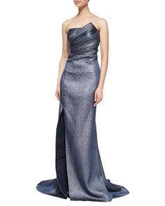 Strapless Metallic Gown  by J. Mendel at Neiman Marcus.