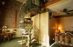 The room we'll be staying in the night after the wedding! Honeymoon suite at the Beaumont in Ouray. My spiral staircase obsession! Beaumont Hotel, 5 Star Spa, Hotel Wedding Venues, Honeymoon Suite, Spiral Staircase, Hotel Spa, Indoor Outdoor, Vows, June