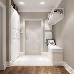 modern corridor design with concrete floor and indirect . modern corridor design with concrete flo House Design, Interior, Hall Design, House Styles, New Homes, House Interior, Home Deco, Room Colors, Corridor Design