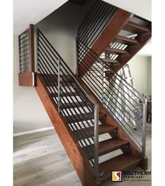 Straight Staircase With A Cable Railing System. #homedecor #furniture  #modernarchitecture #architecture
