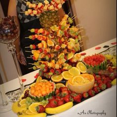 Fruit display for a recent wedding reception we catered