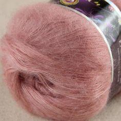 Продажа участка из 6 шаров x 50 г кружева мохер кашемир стороны шелка пряжа вязание salmom розовый 06 купить на AliExpress