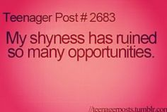 Im Trying To Overcome My Shy Girl Problems..