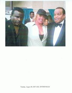 Majestik The Magnificent (Magician for Michael Jackson), Celebrity Publicist Brenda Hollenbeck, and Joe Jackson at The Black Music Awards , In The Entertainment Capital of The World Las Vegas