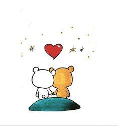 Cute Love Cartoons, Cute Cartoon, Cute Bear Drawings, Little Panda, Cute Little Things, Cute Bears, Love Notes, Brighten Your Day, Polar Bear