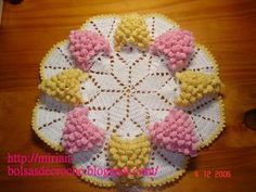 As Receitas de Crochê: Toalhinha de uvas em croche