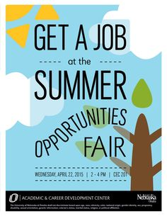 The Academic & Career Development Center will be hosting a Summer Opportunities Fair on Wednesday, April 22, from 2-4 P.M. in 201 CEC.