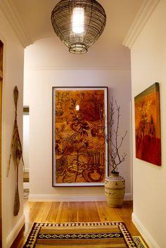Entry with Joshua Yeldham artwork. Brooke Aitken Design.
