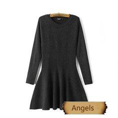 女裝韓版修身針織打底連衣裙657   Angels Fashion Shop