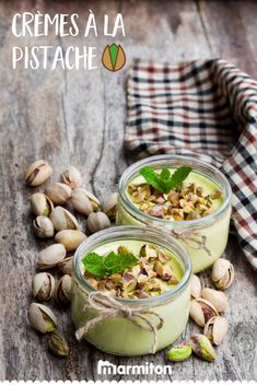 Pistachio cream by Denise , Enjoy these delicious homemade pistachio creams on Marmiton! Pistachio Cream, Desserts With Biscuits, Thermomix Desserts, Food Inspiration, Meal Planning, Sweet Tooth, Brunch, Good Food, Food And Drink