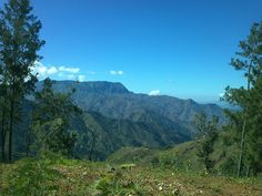 463  Mountains of the Haitian countryside on a super clear crisp day.