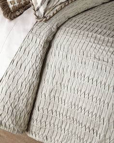 Queen Pleat-Textured Coverlet, Natural - Sweet Dreams