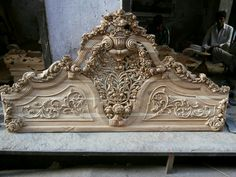 Royal Furniture, Wood Bedroom Furniture, Gothic Furniture, Unique Furniture, Home Decor Furniture, Luxury Furniture, Single Main Door Designs, Beaded Boxes, Luxury Home Decor