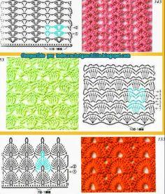 Fantástica colección de puntos para tejer al crochet | Todo crochet
