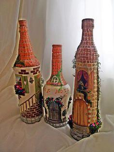 Minhas garrafas decoradas: