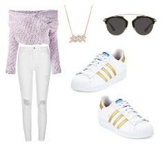 Rosy gold by kikipile on Polyvore featuring polyvore, fashion, style, Daizy Shely, River Island, adidas, Christian Dior and clothing