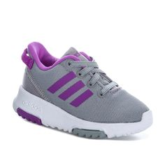 Buy adidas performance Infant Girls Racer Trainers in Grey Infant Girls, Trainers, Adidas Sneakers, Label, Footwear, Grey, Stuff To Buy, Shopping, Shoes