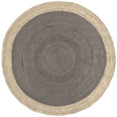 West Elm SPO Bordered Round Jute Rug, 6' Round, Platinum (5 855 UAH) ❤ liked on Polyvore featuring home, rugs, grey, gray jute rug, border rug, grey jute rug, circular rug and jute area rugs