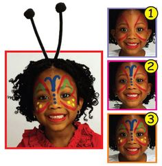 Snazaroo™ Face Painting: Butterfly II #halloween #facepainting