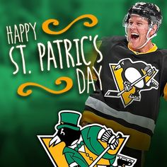 "Happy St. ""Patric's"" Day, Pens fans!"