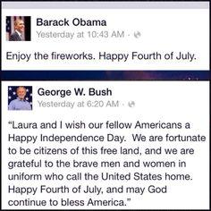 Obama vs. Bush