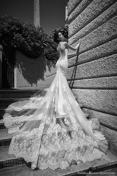 valeria marini seductions 2017 bridal cap sleeves heavily embellished bodice beautiful sexy sheath wedding dress low back panel monarch train (untitled 10) bv