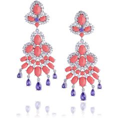 Kenneth Jay Lane Rhodium-plated cubic zirconia and cabochon clip earrings