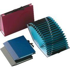 Carpeta clasificador acordeón AZ Folio color Azul