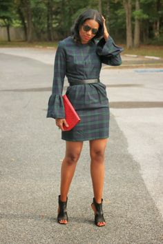 DIY Tartan Dress-Beaute' J'adore