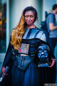 Anikin Skywalker (aka Darth Vader) at Star Wars Celebration 2015 #YorkInABox I really like that this isn't slutty Darth Vader.  She looks freaking awesome