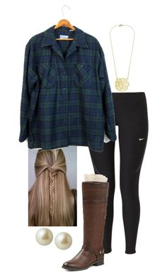 """Exact oorn// lunch"" by madelyn-abigail ❤ liked on Polyvore featuring NIKE, Pendleton, Merona, Carolee, women's clothing, women's fashion, women, female, woman and misses"