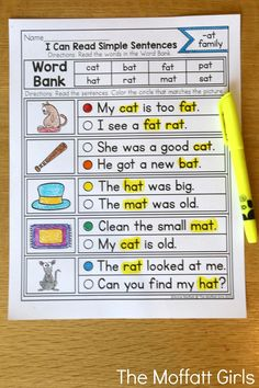 CVC Fluency: Simple Sentences- Read the simple sentences and decide which one matches the picture. Perfect for building reading comprehension in beginning readers!