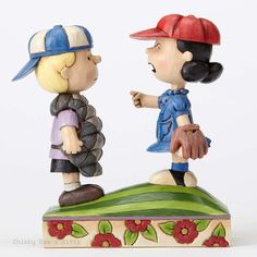 Jim Shore Peanuts Collection Baseball Schroeder and Lucy 4054082