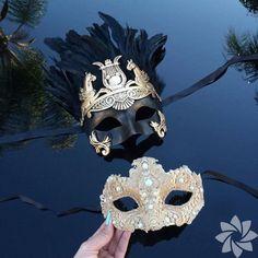 Couples Masquerade Mask, His & Hers Masquerade Mask, Lace Mask, Roman Mask… Couples Masquerade Masks, Masquerade Wedding, Masquerade Ball, Mens Masquerade Mask, Venetian Costumes, Venetian Masks, Venetian Masquerade, Mardi Gras, Larp