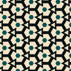 Retro Hexagons & triangles by Stoflab