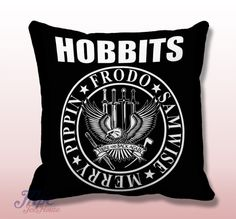 Like and Share if you want this  The Hobbit Ramones Inspired Throw Pillow Cover     The Hobbit Ramones Inspired Throw Pillow Cover.  Fine quality USA handmade decorative throw pillow cover. Front and back of pillow cover are same. Hidden zipper closure. This pillow cover comes in indoor or outdoor fabric in the size of your choice. Indoor Throw Pillow Covers are made from 100% spun polyester poplin fabric, while the Outdoor Throw Pillow Covers are ...    Tag a friend who would love this…