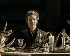 Benedict Cumberbatch as Hamlet (photograph by Johan Persson via Reuters)