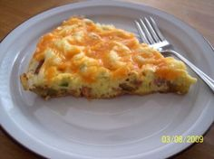 Nif's Easy Cheesy Ham and Potato Frittata - 4 Ww Pts.